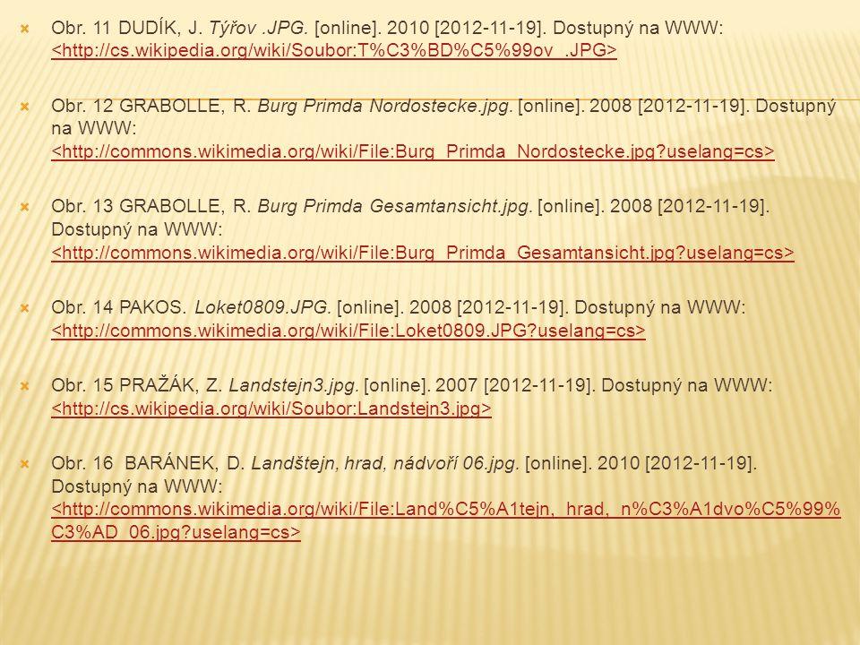 Obr. 11 DUDÍK, J. Týřov. JPG. [online]. 2010 [2012-11-19]